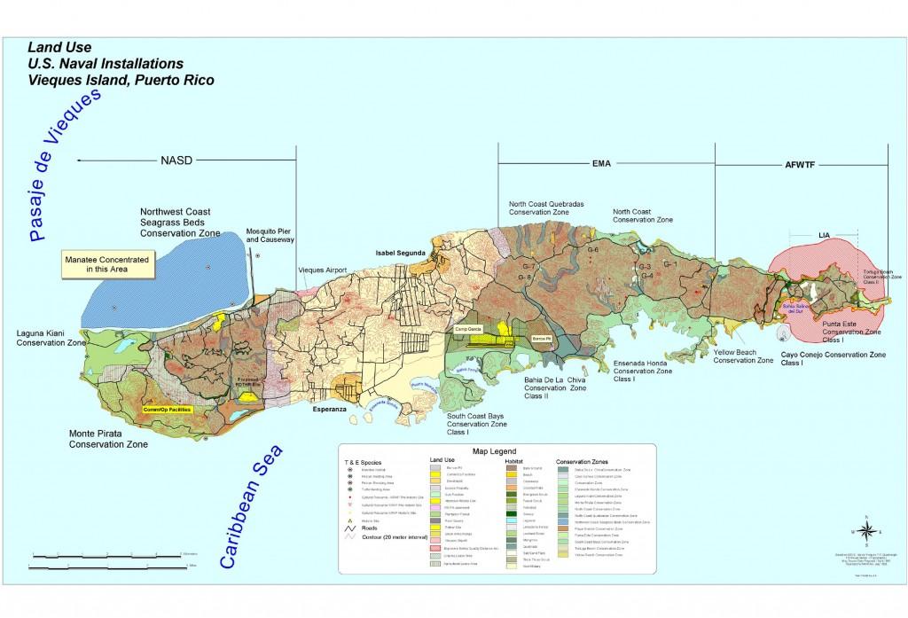 Navy Map - Vieques Island, Puerto Rico