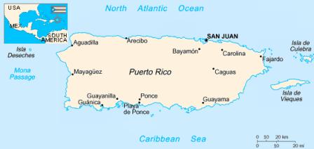 Puerto Rico, Vieques & Culebra Map