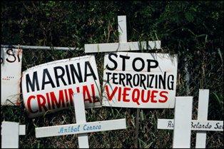 "Navy History - ""Stop Terrorizing Vieques"""