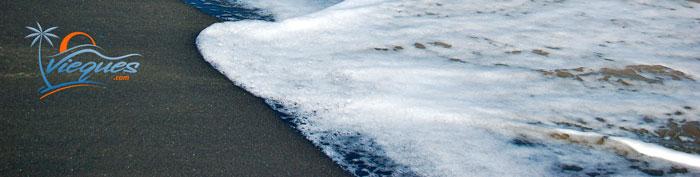 Black Sand Beach - Vieques Island, PR