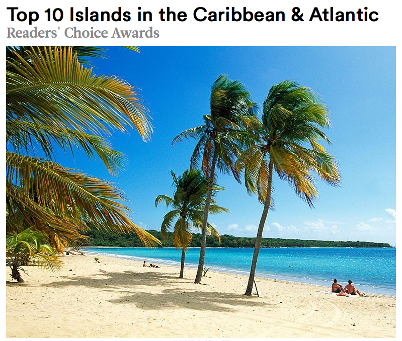 "Vieques – Again…Voted as One of the ""Top Ten Islands in the Caribbean & Atlantic"""