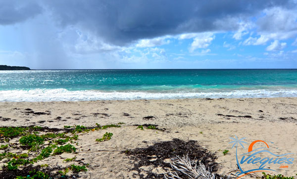 Afternoon shower passing by La Chiva Beach - Vieques, Puerto Rico