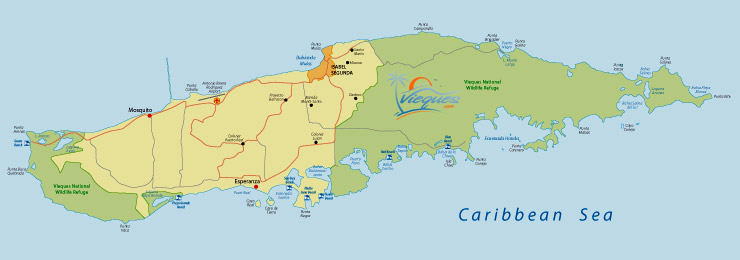 Vieques Map