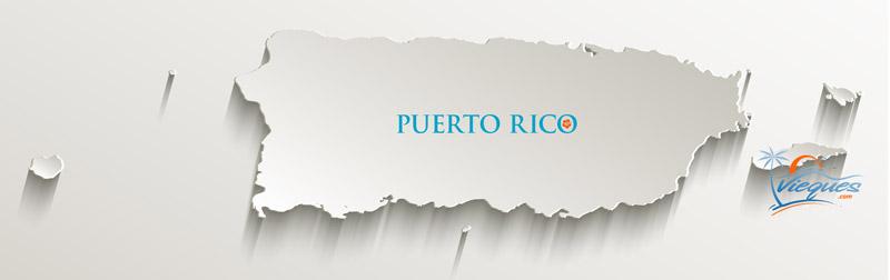 Puerto Rico Islands Map