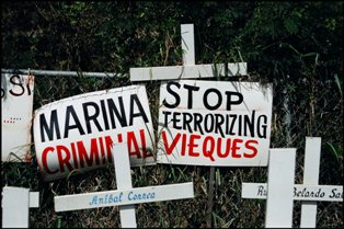 "Navy History - ""Stop Terrorizing Vieques"""