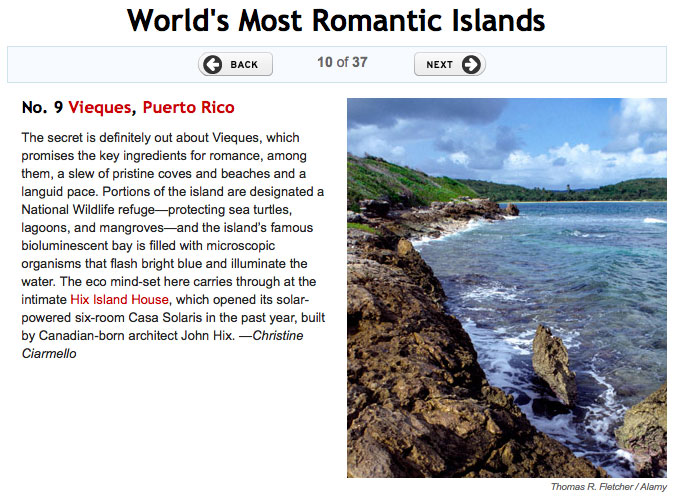 Vieques - Romantic Islands by Travel & Leisure