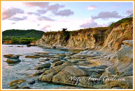 Cliffs in Vieques Island, Puerto Rico