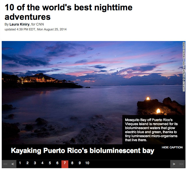 Vieques..1 of the 10 of the world's best nighttime adventures