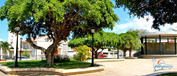 Plaza in Isabel II - Attractions - Vieques Island, Puerto Rico